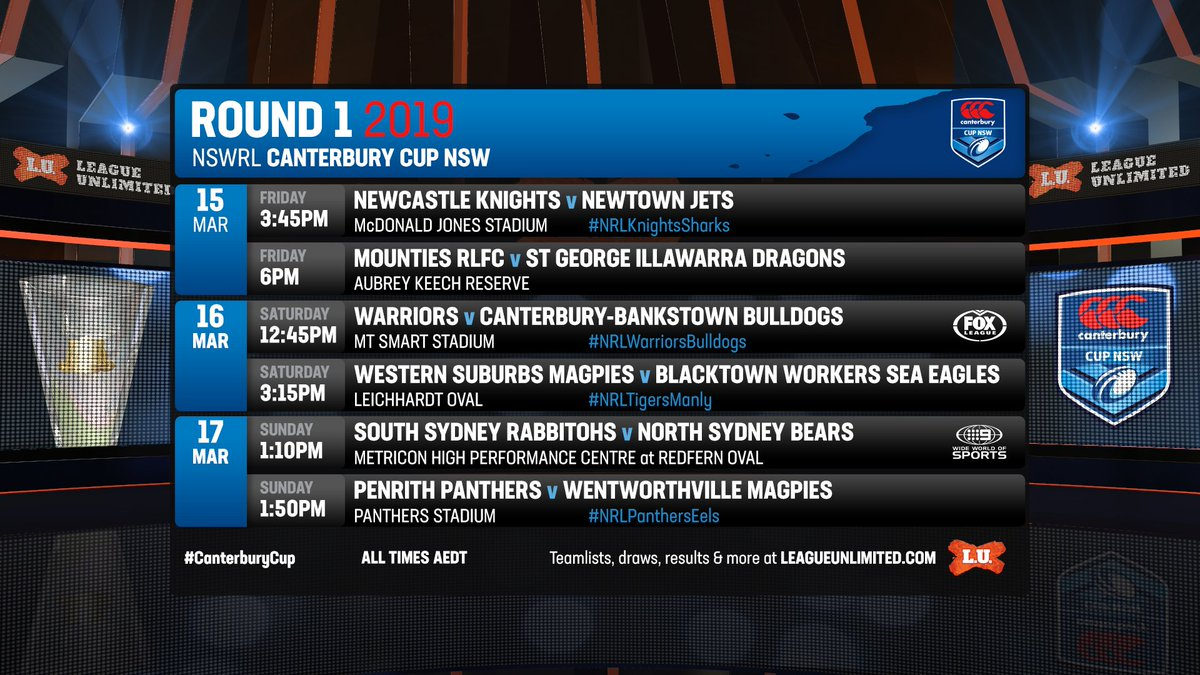 1ccb4aef77f TEAMS: NSWRL Canterbury Cup - 2019 Round 1 » League Unlimited