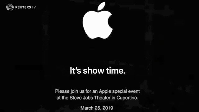 ICYMI: Apple invites media to a March 25 event at the Steve Jobs Theater on its campus, where it is expected to launch a television and video service. More in this week's tech playlist https://reut.tv/2B5rCfA  via @ReutersTV