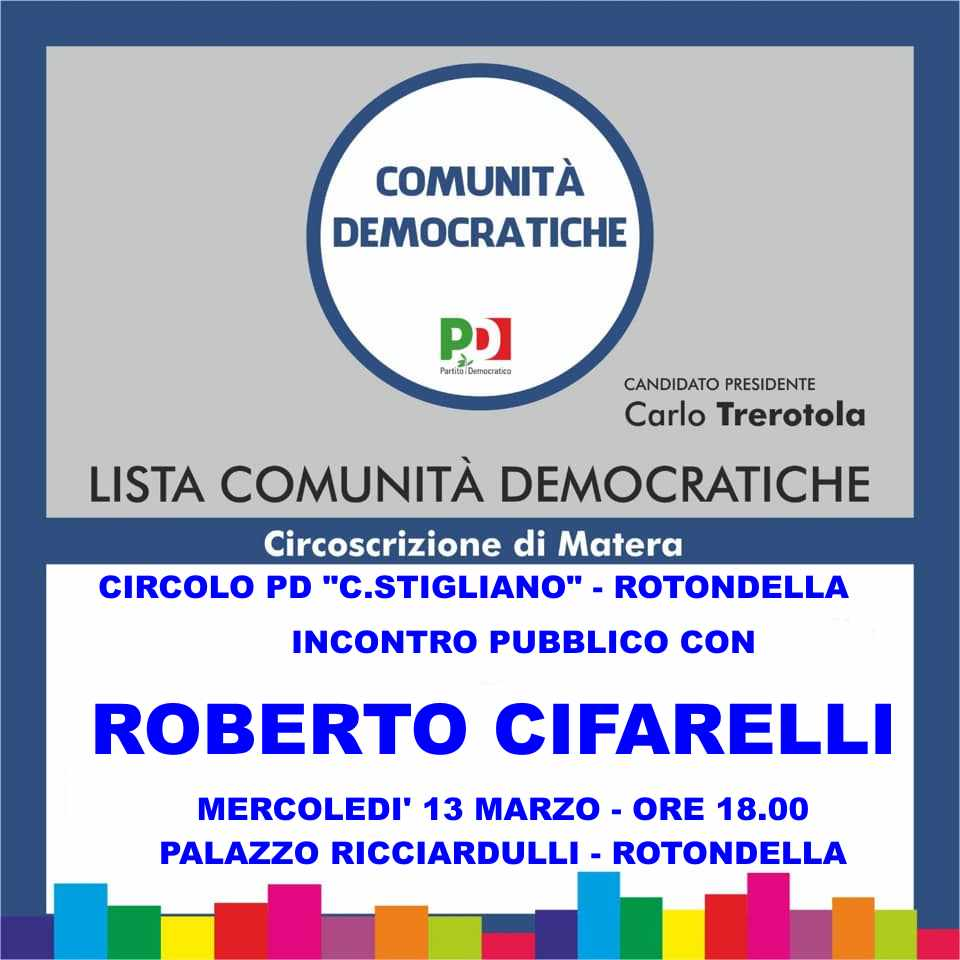 RT @PD_Rotondella: #Rotondella #RegionaliBas2019 @...