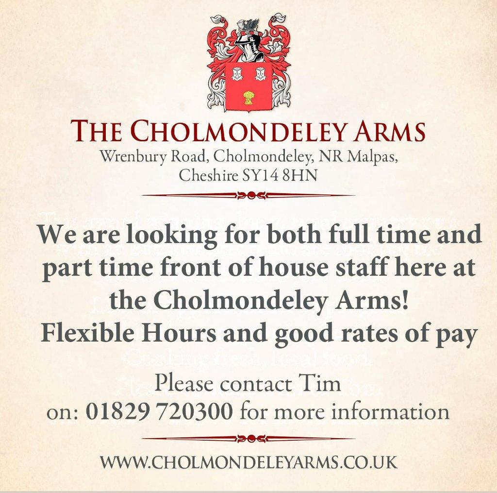Cholmondeley Arms (@CholmArms) | ทวิตเตอร์