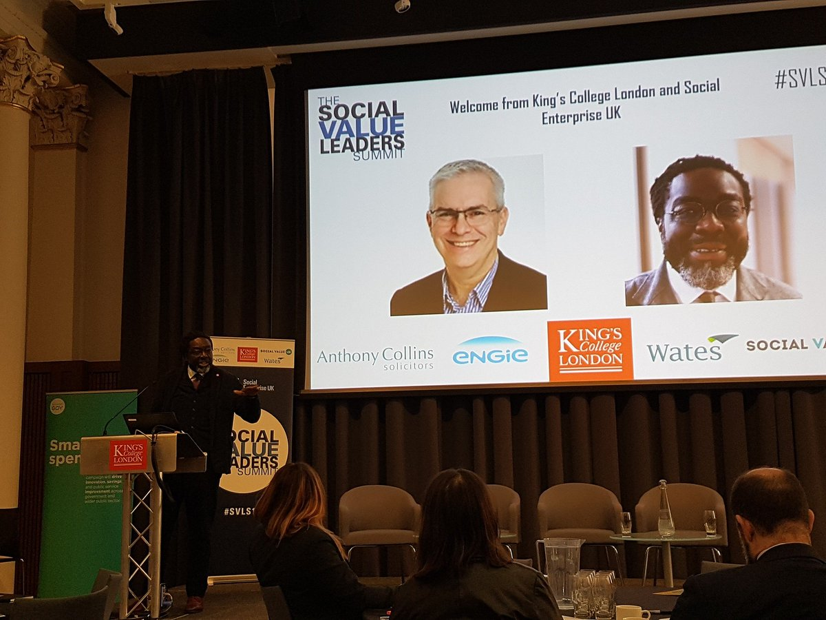 'Social value should not be seen as a luxury in any part of the public or private sectors, but common sense' - Lord Victor Adebowale.  Business can work better with gov to embed social value – we all have a part to play.  @SocialEnt_UK #SVLS19