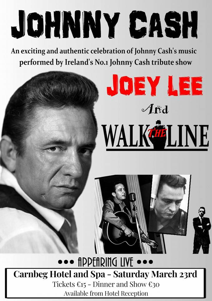 Walk The Line - A Johnny Cash Tribute, on Saturday, March 23rd. Book Tickets now! 🎟