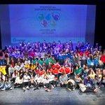 Image for the Tweet beginning: Las deportistas de Leganés exhiben