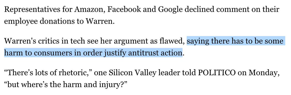 ah yes, great question. what harm have tech companies inflicted on consumers