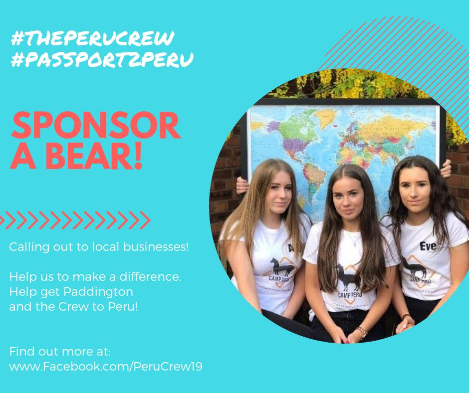 The @peru_crew are seeking sponsors for their trip to Peru this year!  Can you help? #perucrew #passport2peru #charitytuesday