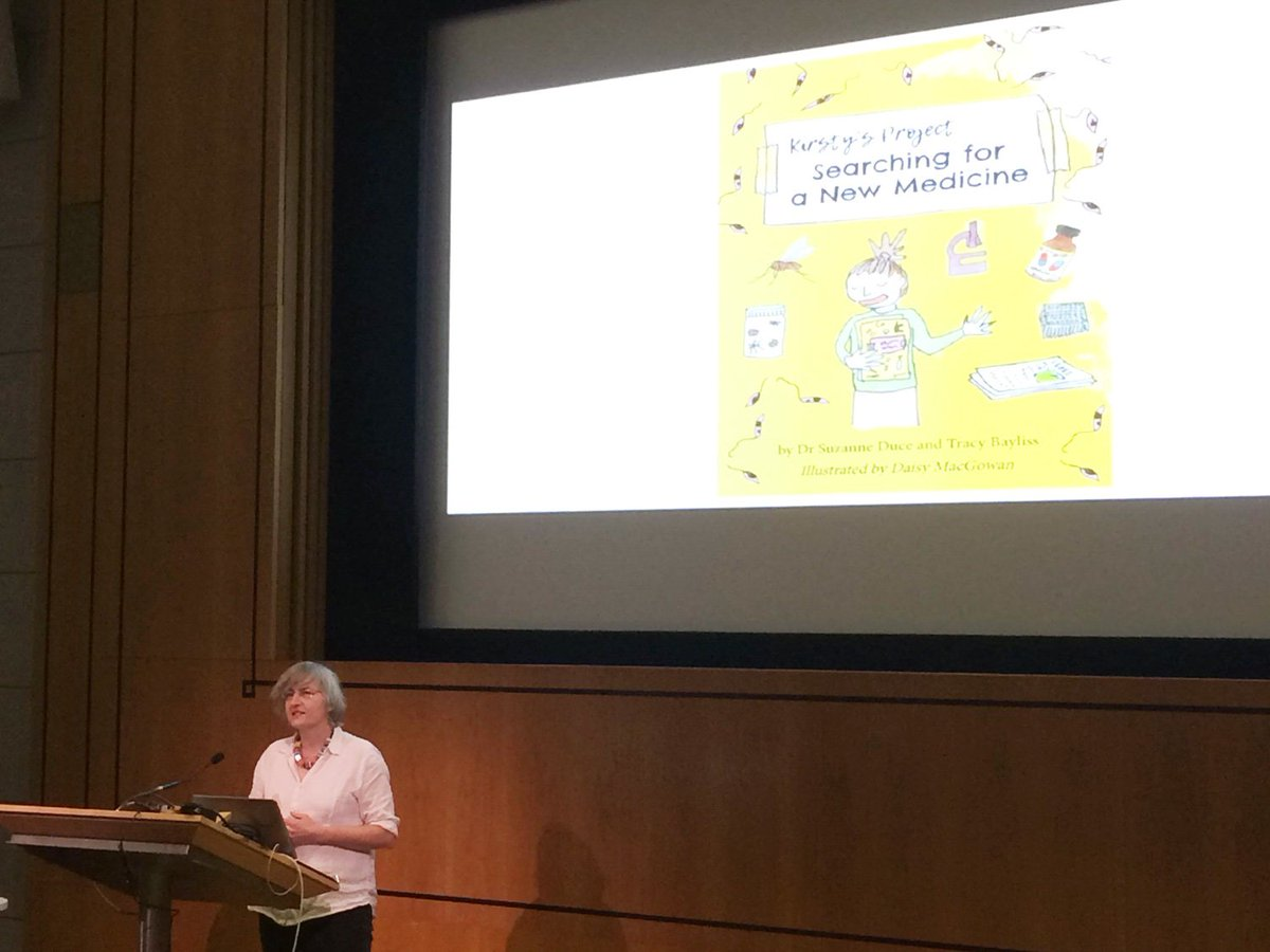 Suzanne Duce from @dundeeuni presents Kirsty's Project - a book for children that explains #drugdiscovery process to find a new medicine for #leishmaniasis.  #ISNTDFestival @ISNTD_Press