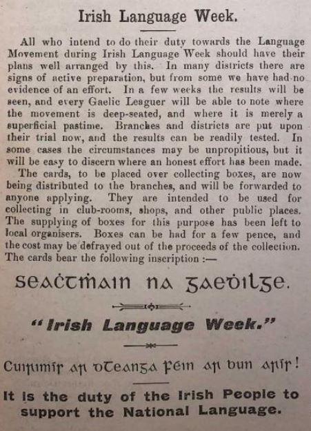 Beatha na 7aine - MOONAN, George (1872–1945) - a rugadh i Sráid na  Mainistreach, BÁC; ball de Chonradh na #Gaeilge; scríobh sé The Spirit of  the Gaelic League (1905); bhí ról lárnach aige nuair a eagraíodh an chéad #SeachtainNaGaeilge in 1902.  #SnaG19   https://www.ainm.ie/Bio.aspx?ID=166