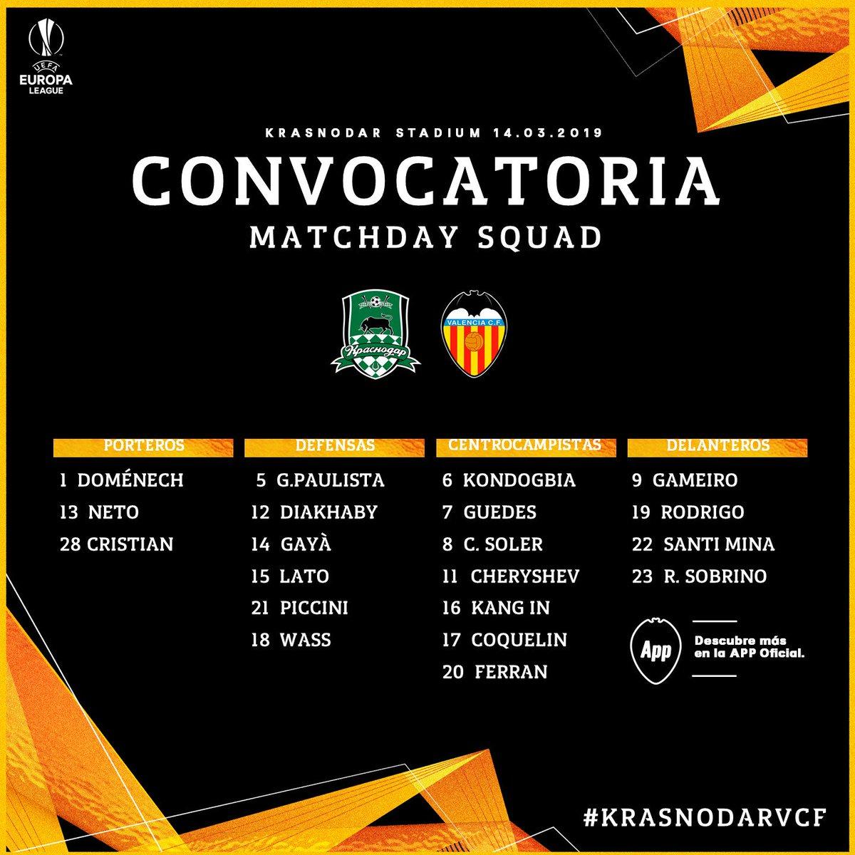 D1dMYgcX4AEOnRq Marcelino se lleva a 20 jugadores a Krasnodar - Comunio-Biwenger