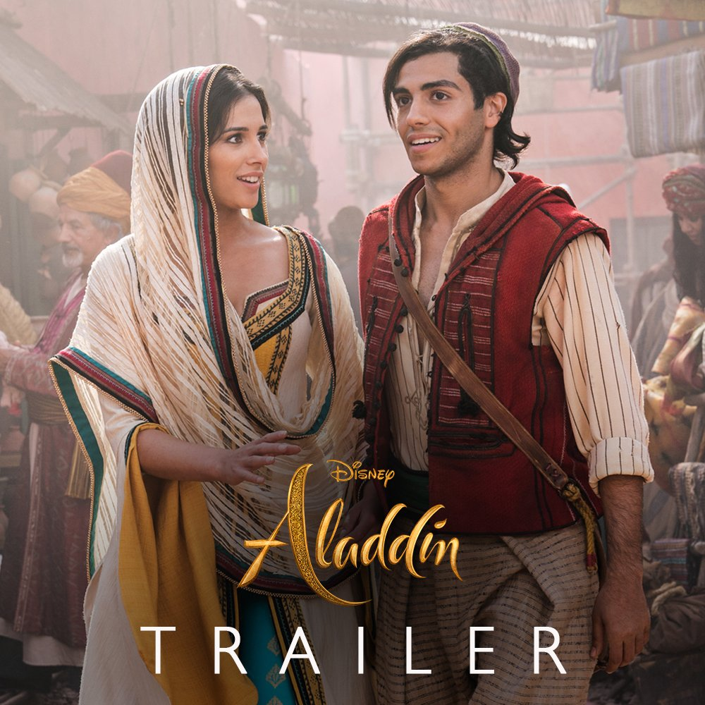 A whole new world. Watch the brand-new trailer for Disney's #Aladdin, in theaters May 24.