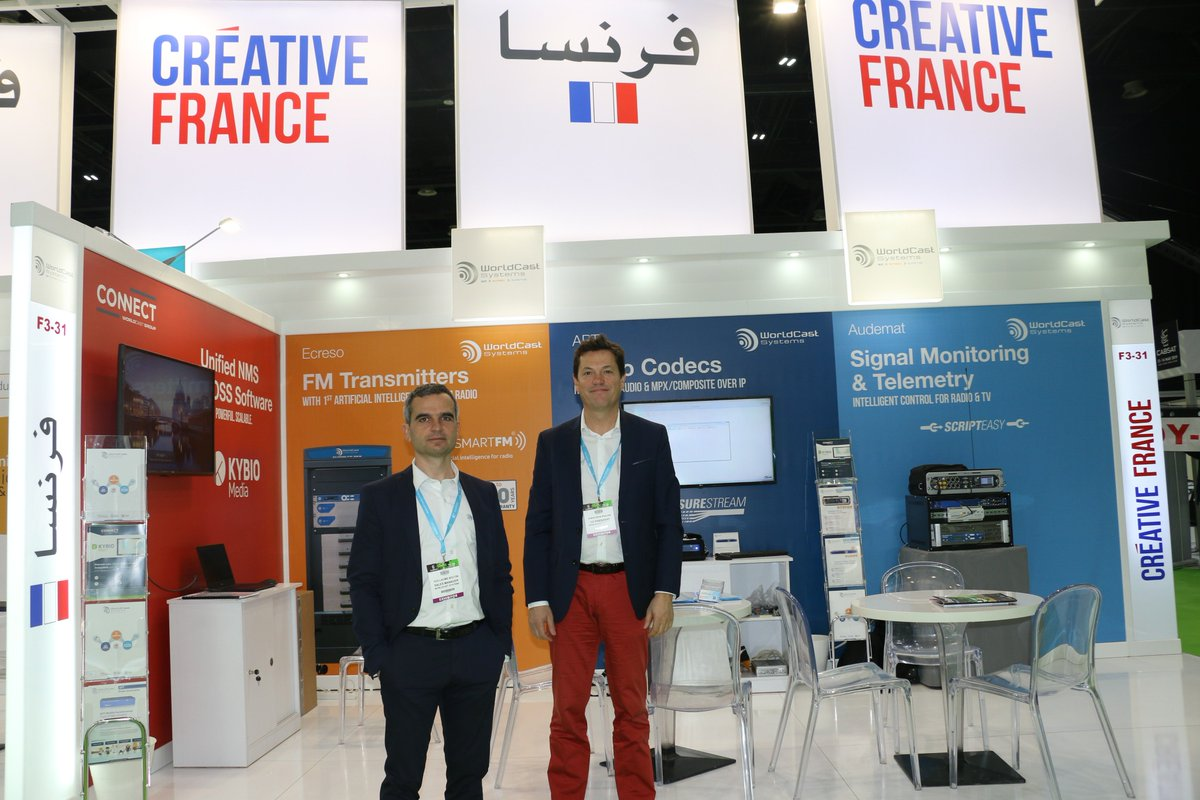 Meet @WorldCastSys come & discover their innovations on #Audio over IP with the APT #MobileSurestreamer the Test & Measurement reference #AUDEMAT #FM the new Artificial Intelligence for FM transmitter with ECRESO #SmartFM visit #FrenchPavilion  F3-31 @CABSATofficial 2019 #InfoBF