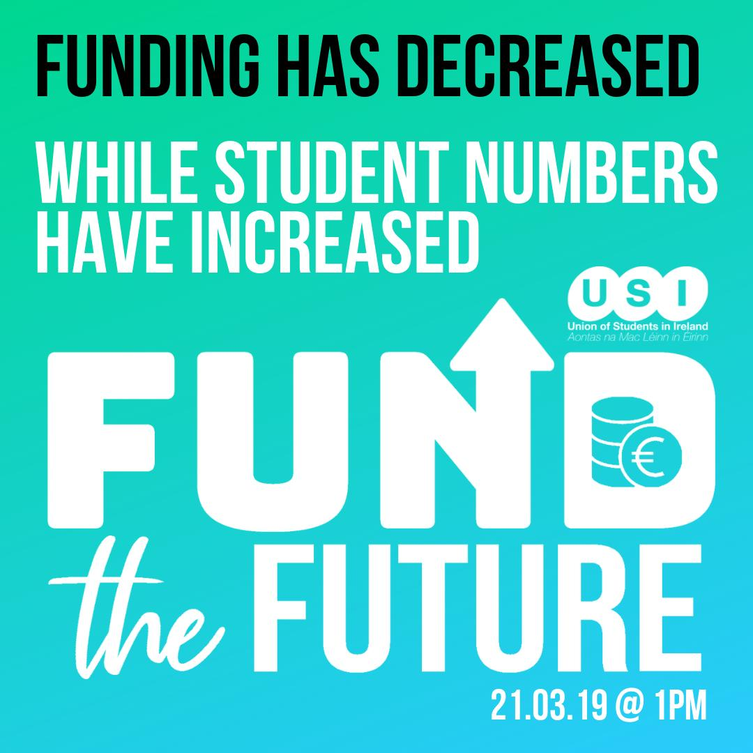 Funding has decreased, while student numbers have increased. This is completely unnacaptable for our young learners. #FundTheFuture http://bit.ly/FundTheFutureUSI… @SIPTU @ifut @forsa_union_ie @issu4u