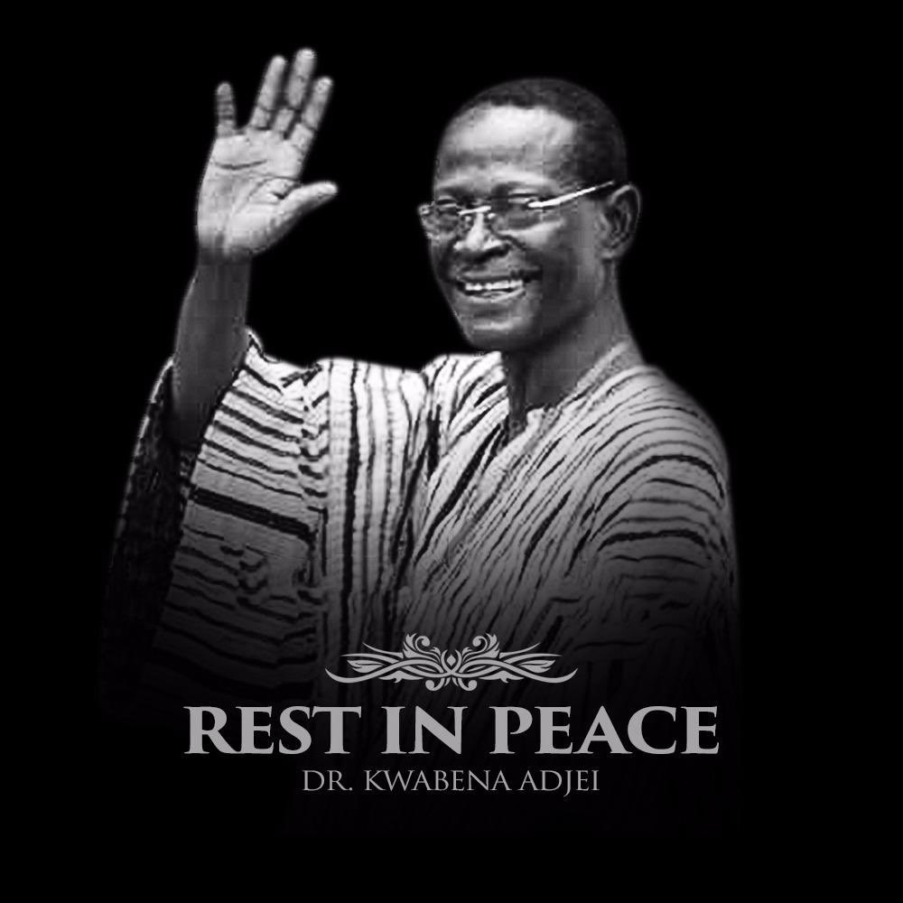 Sad to hear of the passing of Dr Kwabena Adjei. He was a friend, whom I met in the 2nd parliament of the 4th Republic. He will be missed. My condolences to his party, the National Democratic Congress, and to his family. May his soul rest in perfect peace.