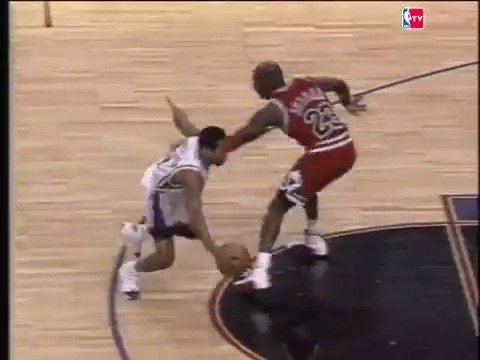 22 years ago today, rookie Allen Iverson hit Michael Jordan with one of the most iconic crossovers ever. https://t.co/b5O90cx4xV