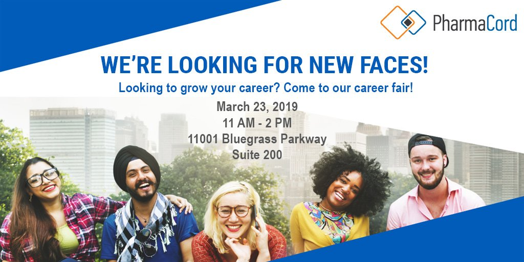 Grow with us! Join us at the PharmaCord career fair. We are hiring: Benefits Specialists, Case Managers, Customer Care Reps, Pharmacy Techs and more! RSVP today! http://ow.ly/ZUoP30o0qKm  #PatientServices #Healthcare #Pharmacy #BestPlacesKY #BPWK19