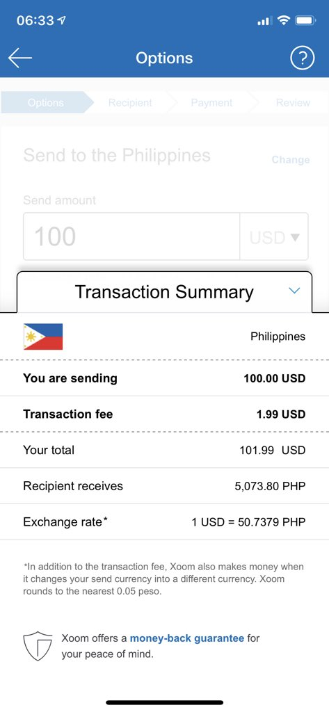 Xoom Money Transfer Time