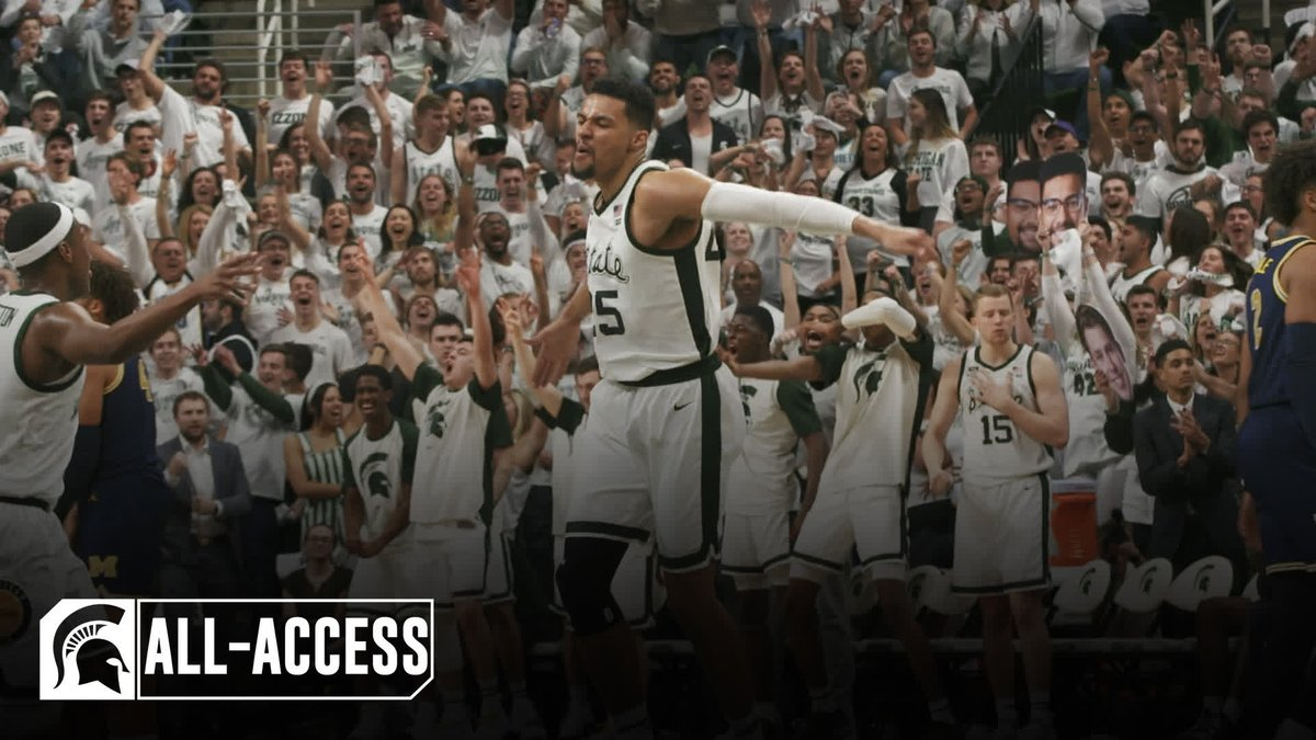 'The biggest game in Breslin Center history...two top 10 teams...' #GoGreen