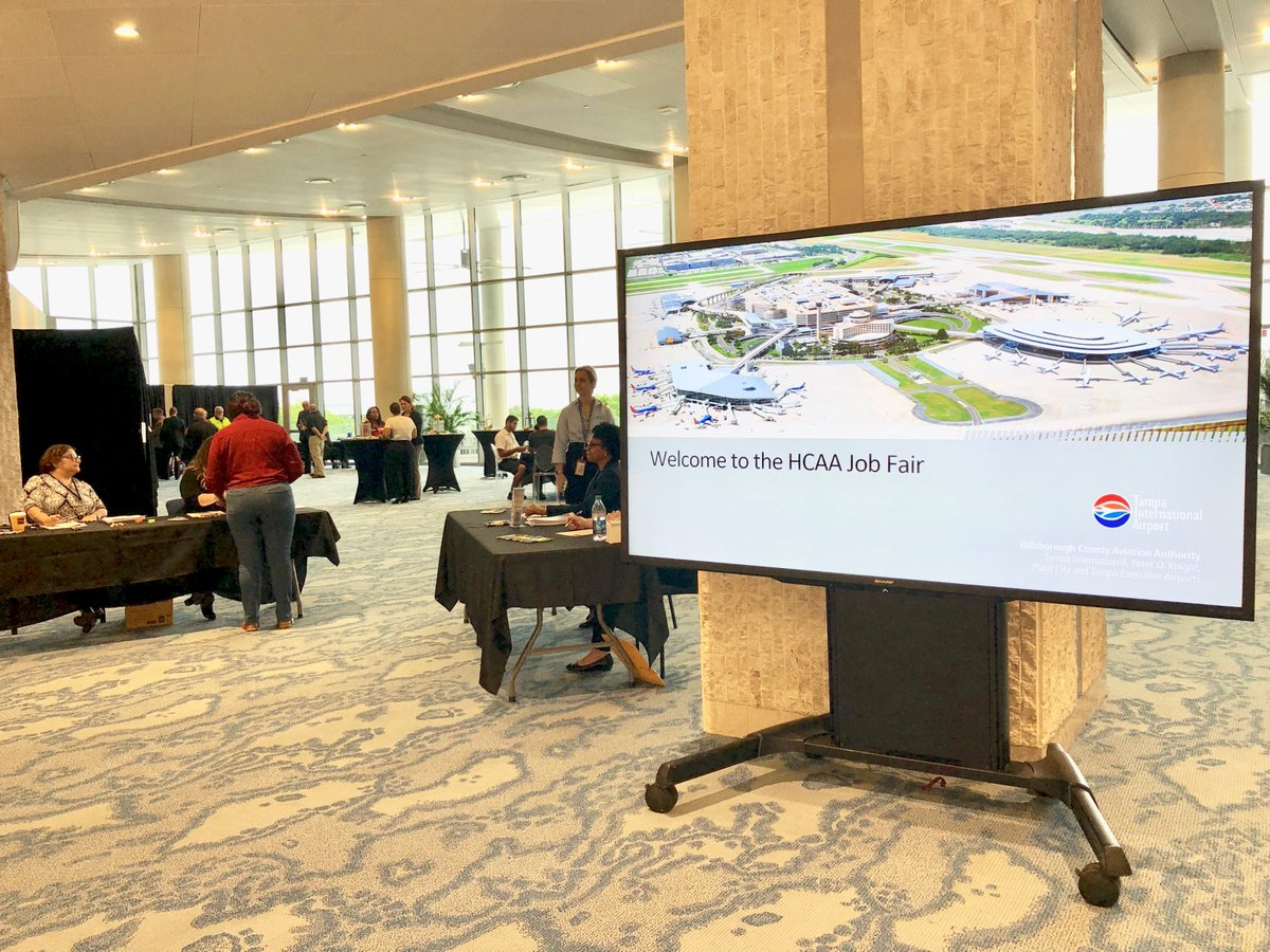 Interested in a career working in the Airport Operations Center, Landscaping Maintenance or Traffic? The Hillsborough County Aviation Authority is hosting a job fair today from now until 7 p.m. in our event space in the Main Terminal. Come on by! <br>http://pic.twitter.com/ZMUDshZ3GA