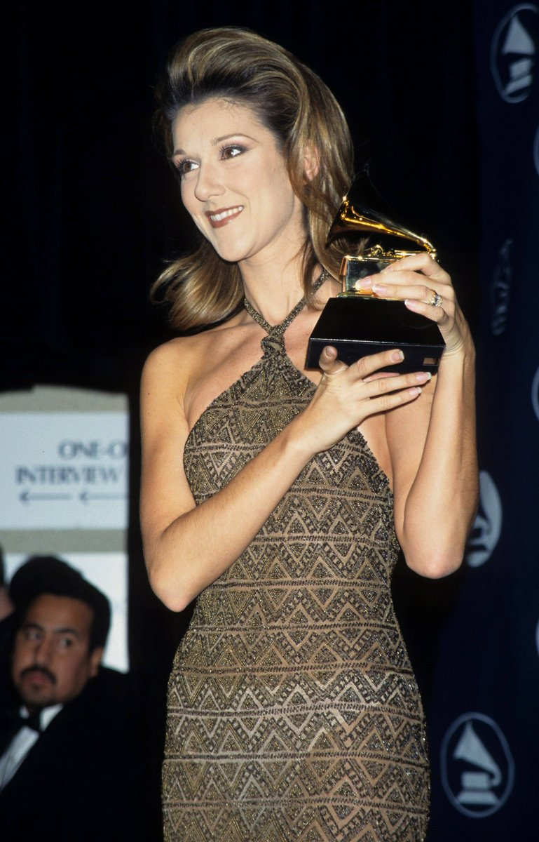 .@celinedion had a memorable night at the 39th #GRAMMYs in 1997. She walked away with two GRAMMY Awards for 'Falling Into You,' Album Of The Year and Best Pop Album. #GRAMMYVault <br>http://pic.twitter.com/aPMuZneLYT