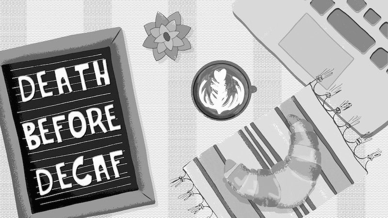 'Death Before Decaf' Why do we hate decaf so much? long.fm/ZZY3zAe (@rebexxxxa, @thegoods)