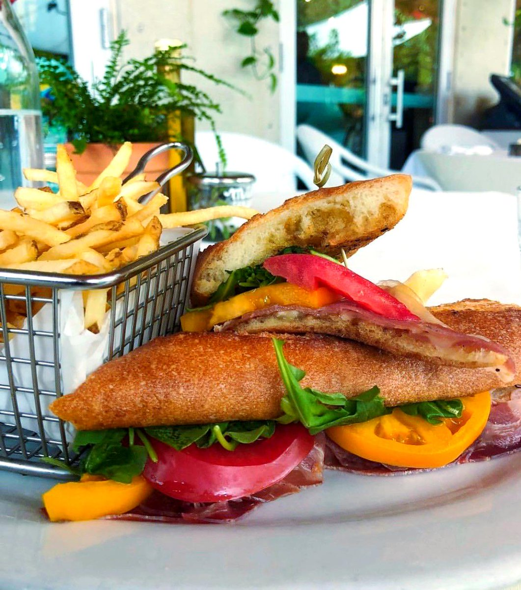 Hungry? Join us for lunch and order our mouthwatering  Prosciutto and Brie Cheese Sandwich!🤤 #Lunch #PeacockGardenBistro #Miami #CoralGables  #CoconutGrove