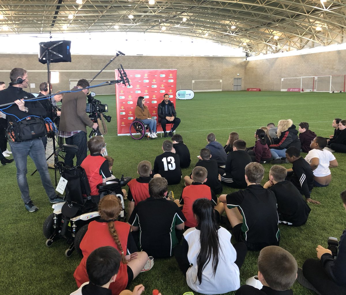 Good afternoon back at Carrington seeing all the brilliant work #PLBTdisability are doing!! Keep Up The Good Work @MU_Foundation @btsport @PLCommunities 💪🏽🔴