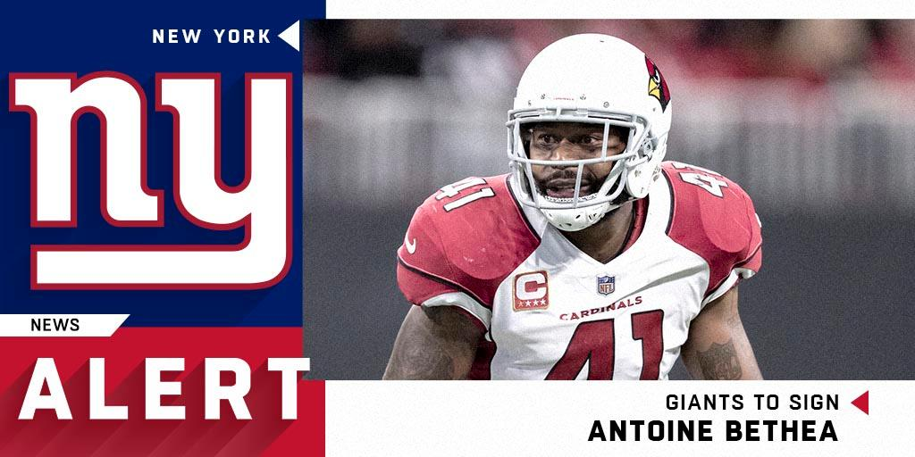 The @Giants are signing safety @ABethea41 to a two-year deal.  (via @ReggieWayne_17) https://t.co/s5cmRjl45f