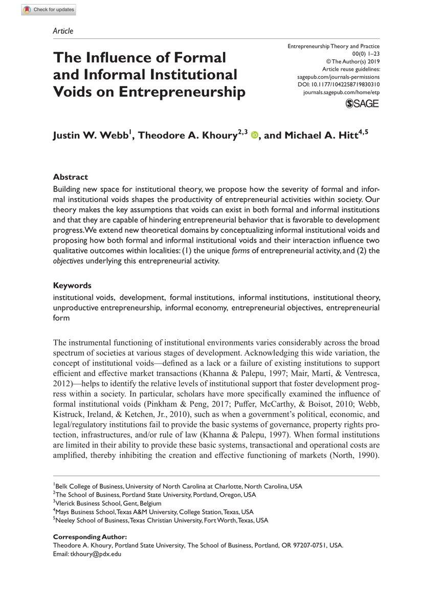 Entrepreneurship Theory And Practice Etpjournal Twitter