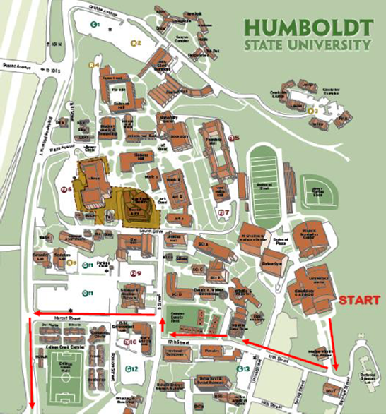 humboldt state campus map Humboldt State On Twitter It S Behind The Ka Building Have A humboldt state campus map
