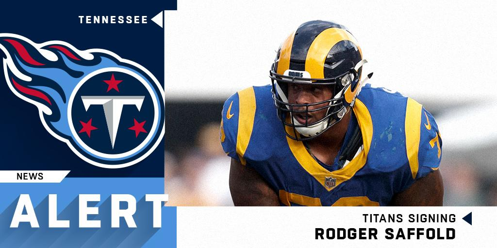 Former Rams OL @Rodger_Saffold signing a four-year, $44 million deal with the @Titans.  (via @RapSheet) https://t.co/IWvVp3yTeh
