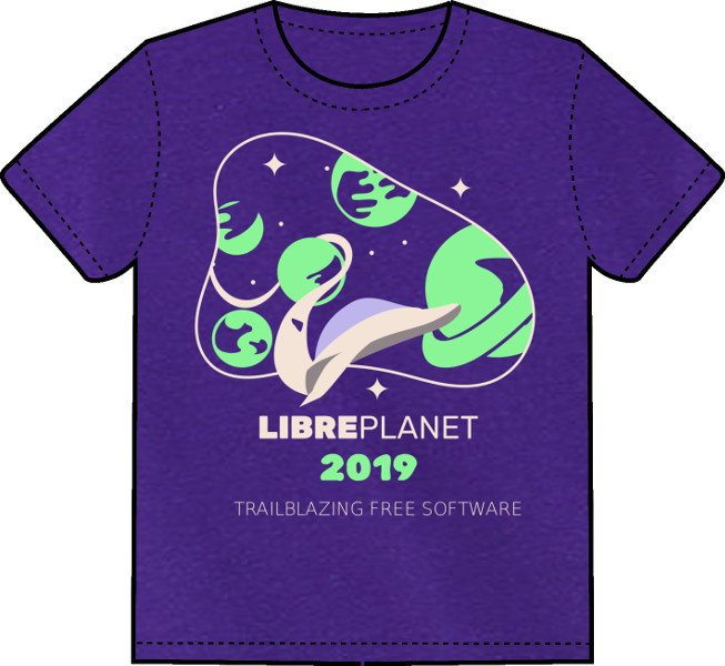 Free Software Fndn On Twitter The Libreplanet 2019 Conference T Shirt Design Imagines This Year S Theme Trailblazing Free Software As A Space Journey To Unexplored Frontiers Pre Order Yours Today Https T Co Ikcgnksvq0 Https T Co T2sxphne6a