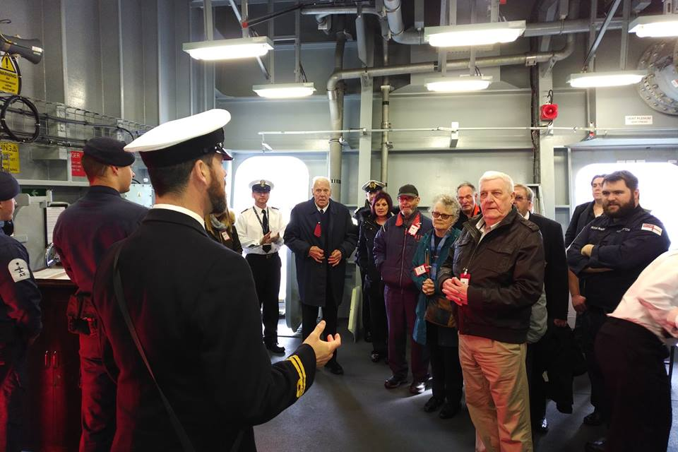A group of veterans, supported through a Royal Navy and Royal Marines Charity grant to @AgeUKPortsmouth, were invited on board HMS Queen Elizabeth last week for a tour of the aircraft carrier. Read more: http://www.rnrmc.org.uk/news/veterans-supported-through-rnrmc-grant-visit-hms-queen-elizabeth … @HMSQNLZ