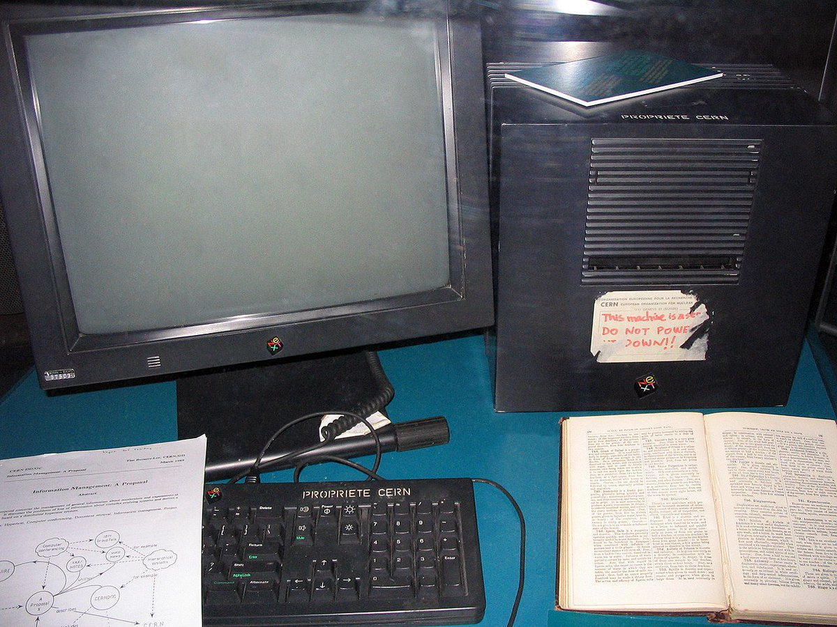 The World Wide Web has turned 30 today!  The photo shows the NeXT workstation which was used by Tim Berners-Lee as the first Web server on the WWW. The document on the keyboard is a copy of Berners-Lee's proposal for the WWW published on March 11, 1989.  https://www.w3.org/History/1989/proposal.html …