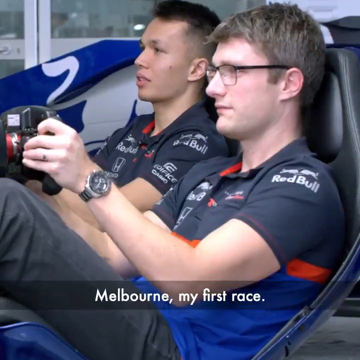 Just three days until were back on track, watch @alex_albon and his Race Engineer Pierre Hamelin discussing the #AusGP 📺👇