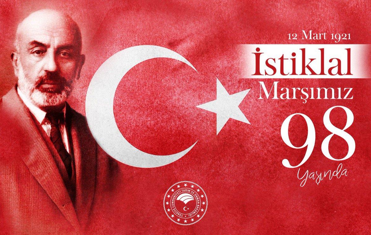 """Hakkıdır, Hakk'a tapan Milletimin İstiklal""  İstiklal Marşımızın Milli Şairi #MehmetAkifErsoy'u Rahmetle anıyorum."