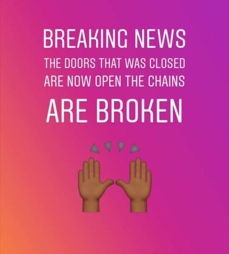 Thank You God for breaking ever chain   #God #Jesus #HolyGhost #HolySpirit #HolyBible #HolyFire #BibleVerse  #BibleStudy  #Bible<br>http://pic.twitter.com/cFGghi7Noe