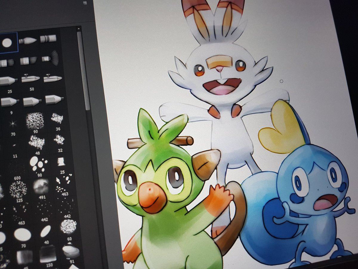 Drawing The New Pokemon Starters From Pokemon Sword And Shield I M