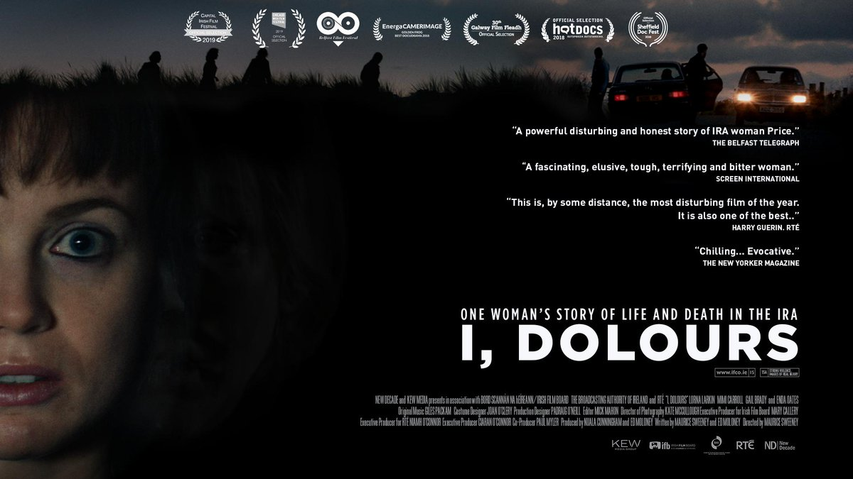 New laurels are being added to the I, Dolours poster all the time!  It won Audience Favourite at the Capital Irish Film Festival CIFF in Washington DC last week. Onwards...