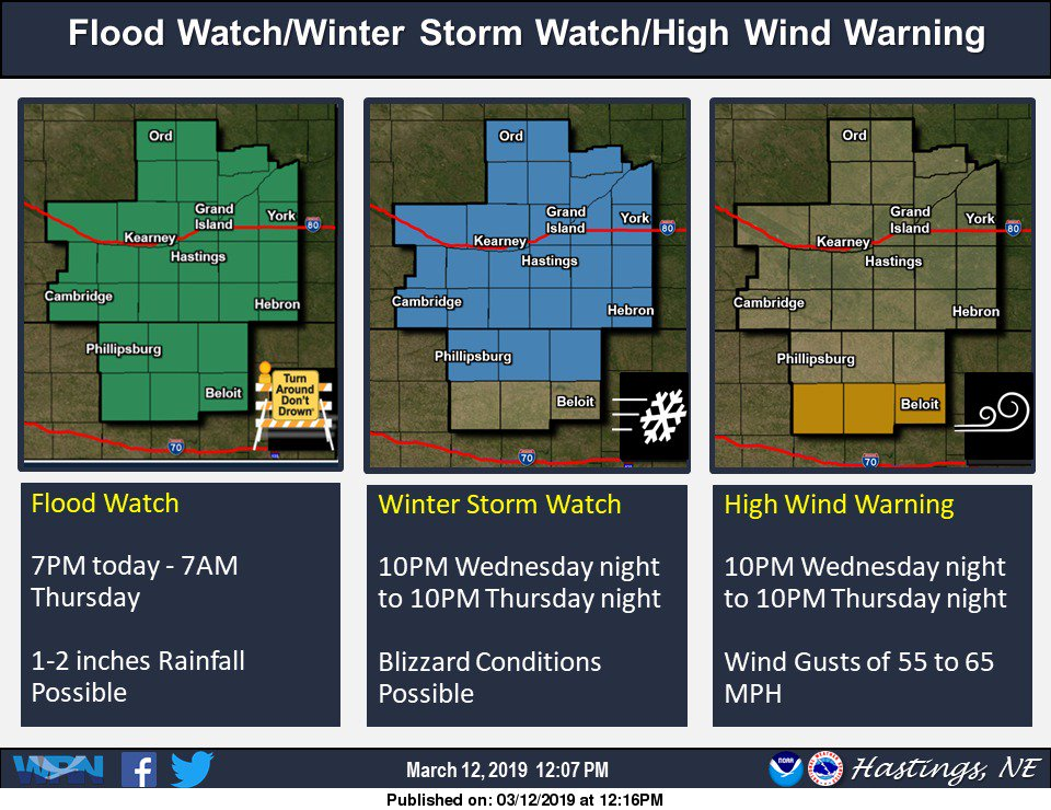 Flood Watch, Winter Storm Watch and High Wind Warning! #NEwx #KSwx<br>http://pic.twitter.com/xLphx56uNC