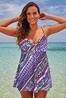 #Fashionnews  Reverie Cup Sized Tie Front Underwire Swimdress | Swimsuits For All #swimwear http://www.planetgoldilocks.com/swimwear2.htm  #Swimdress   Planetgoldilocks.com #fashionstyle