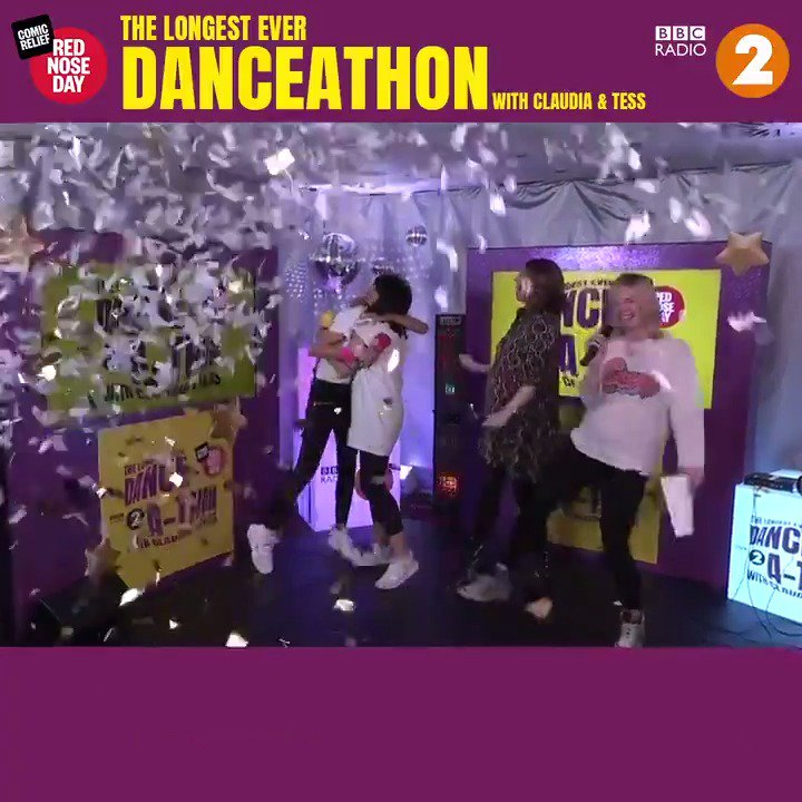 They did it! 🎉🎉🎉 24 hours and 5 minutes of dancing... The highs, the lows, the laughs, the smiles, the delirium...it's all been to raise money for @comicrelief!  We are so proud of @claudiawinkle and @tessdaly. So far they've raised £782,686!  #RNDdanceathon