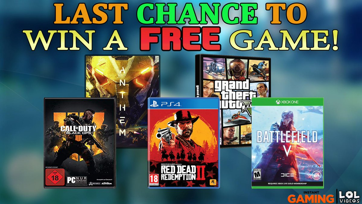 Last chance to win a FREE game  https://www instant-gaming com/en