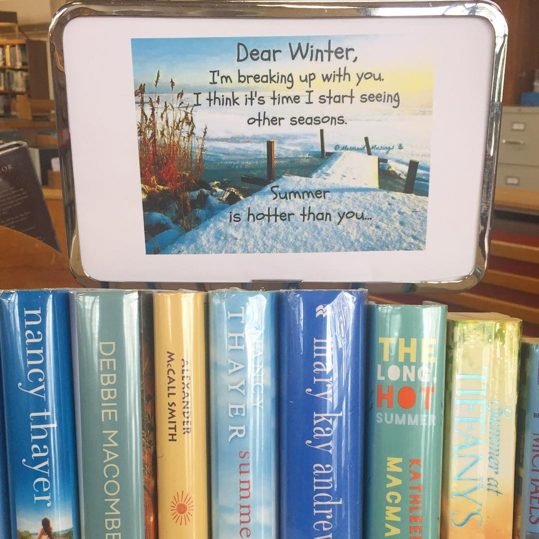 Cb Regional Library On Twitter Dear Winter It S Not You It S Me Bookdisplay Librarybookdisplay Breakupletter Ah winter love the extended wardrobe and it has cozy sweaters and my favorite boots hit the chapel lips flat hair and cold feet. twitter