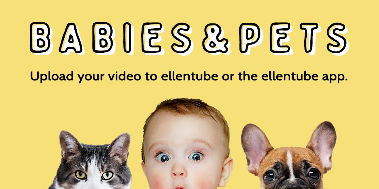This is adorable. If you have a video of a baby with a pet, I wanna see it on @ellentube! https://t.co/bfwY07O5gf https://t.co/Uc3sVGSWHB
