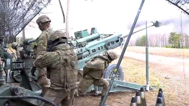 See what it takes to get artillery on target as @USArmy soldiers fire a 155 mm Howitzer while training with @NATO partners during exercise #DynamicFront at Grafenwohr Training Area, Germany. #KnowYourMil