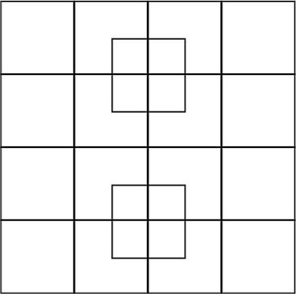 сколько квадратов изображено на этой картинке троих