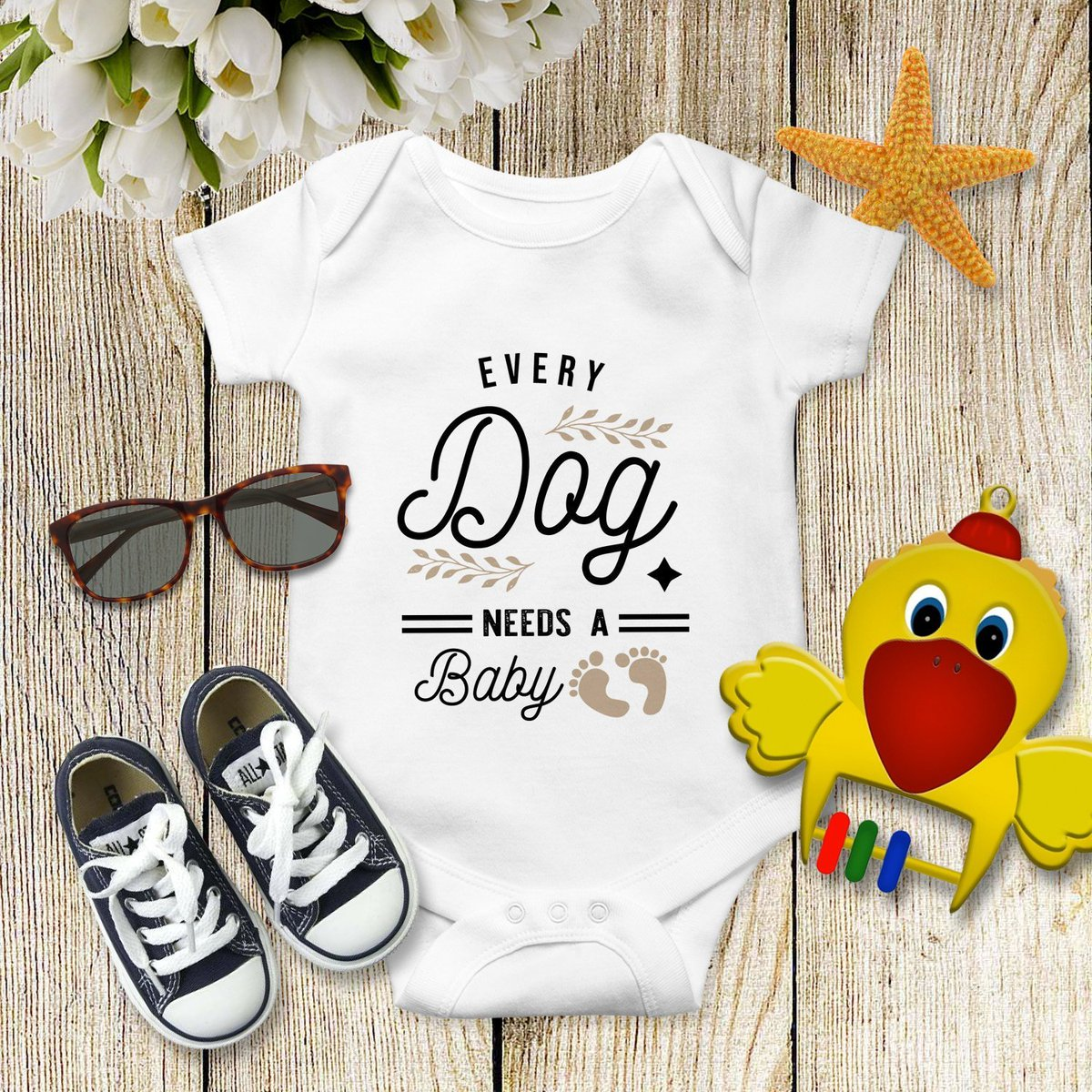 831c6f5c Excited to share the latest addition to my #etsy shop: Every Dog Needs a  Baby Onesie, Fur Baby Bodysuit , Dog Pregnancy Reveal Shirt Infant Rip Snap  Tee ...