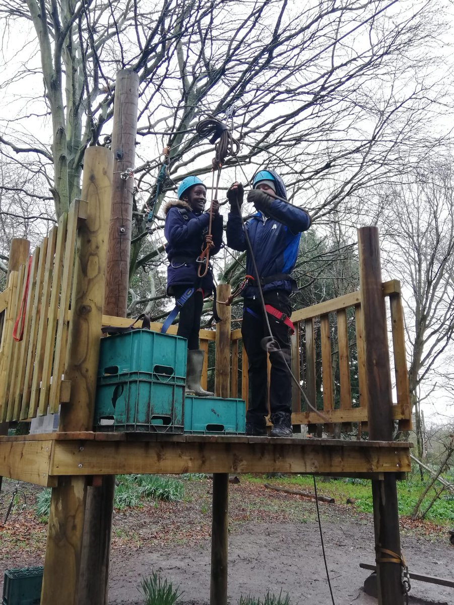 Although it was a bit cloudy, @oratory_rc year 5s seemed to be having a good time at Condover Hall! ☁️🧗♂️