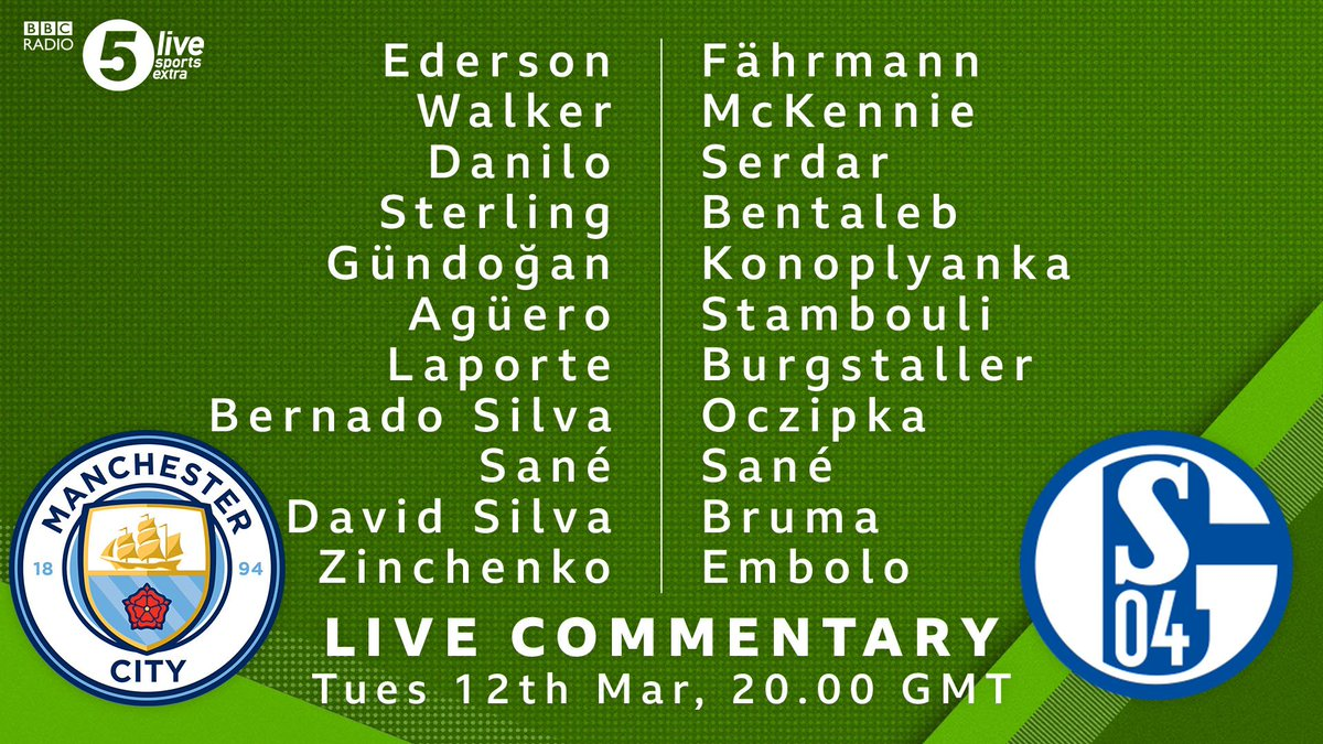 🚨TEAM NEWS🚨   John Stones is on the bench for #MCFC so Danilo switches to centre-back 👀  #S04's Matija Nastasic misses out with a bruised foot 🦶  📲⚽️: https://t.co/nXzKiphWQV https://t.co/uerMju2hq3