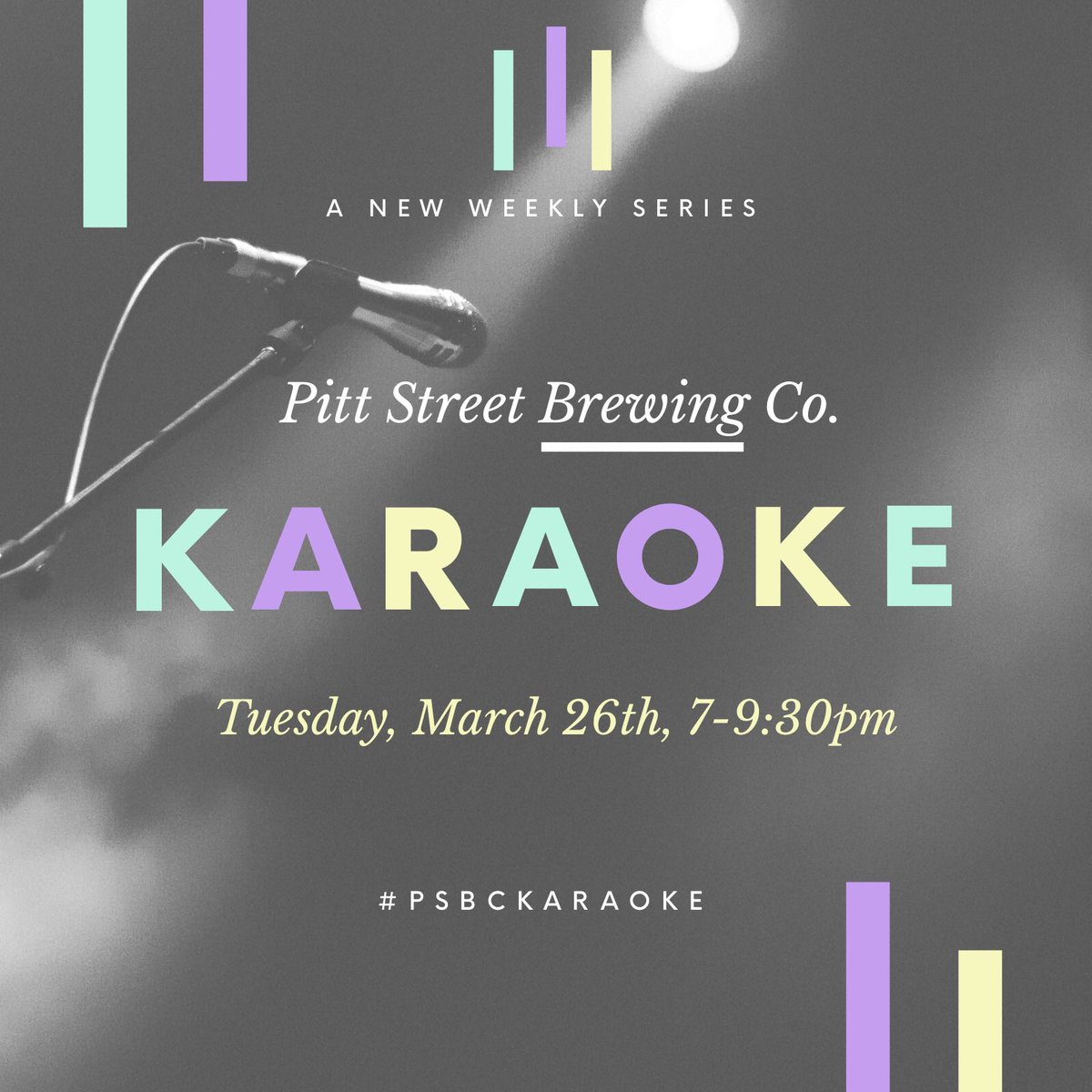 Every Tuesday at 7pm we are bringing you Karaoke with Capt Morgan. Join us in the backroom to sing that song you've been practicing in your car for months! Sign ups start at 7pm #psbckaraoke