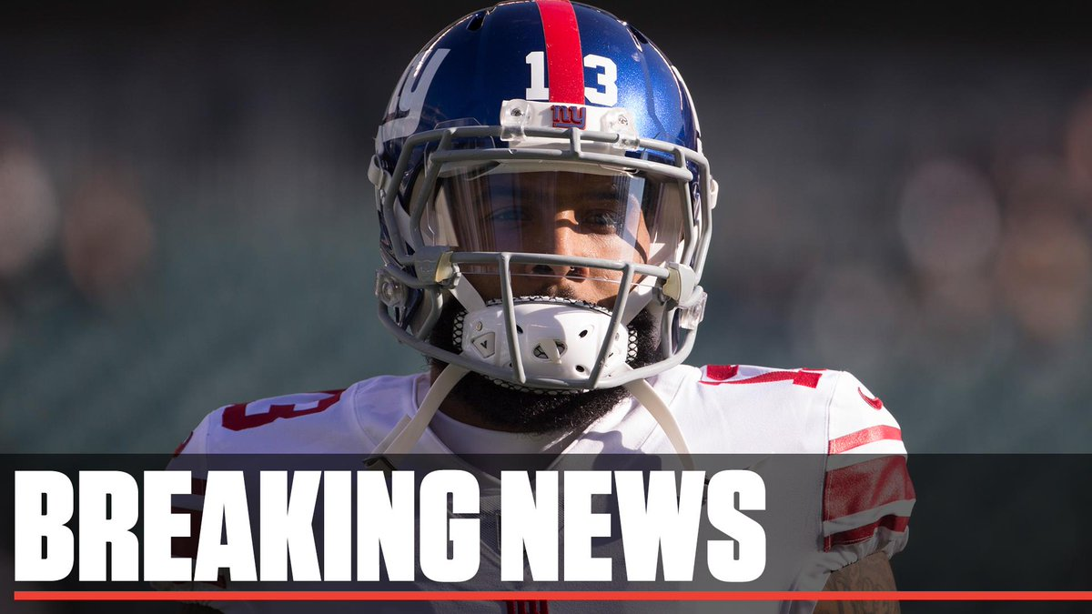 Breaking: Odell Beckham Jr. has been traded to the Browns, sources confirmed to @AdamSchefter. The deal was first reported by NFL Network.